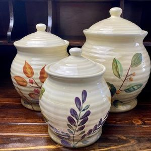 HOME TRENDS Farmhouse Country 3-piece Canister Set